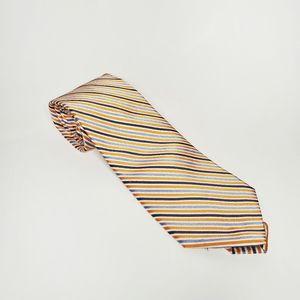 IZOD Silk Tie Stripes Wide Yellow Blue